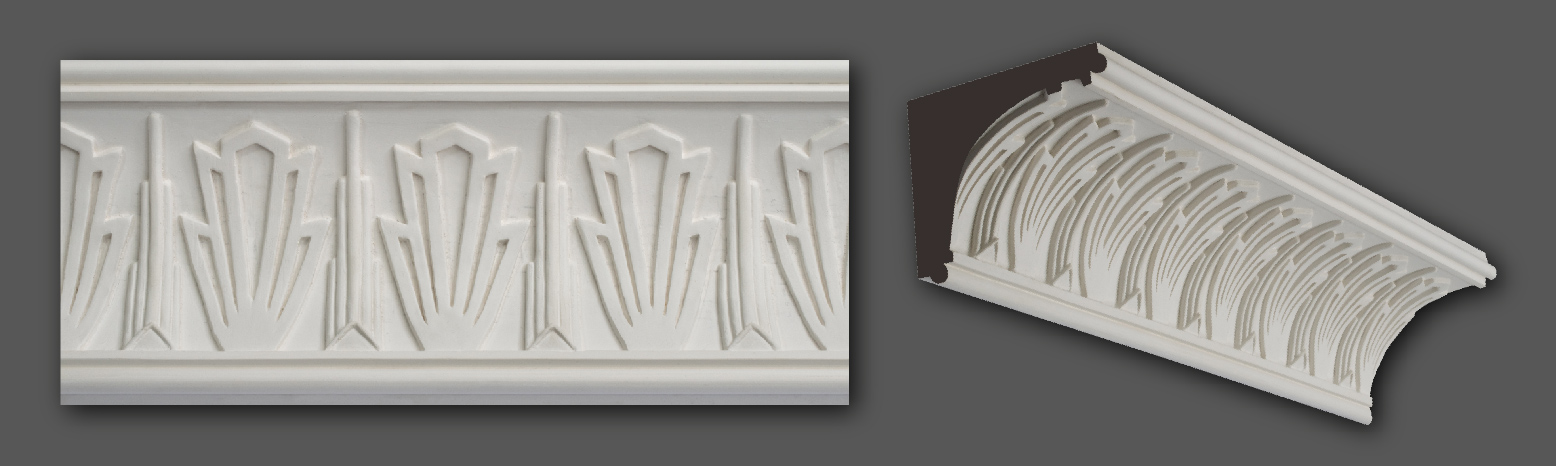 Art Deco Coving - Range of Art Deco Cornice Designs