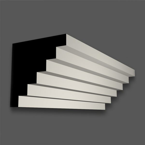 CR 274 L (50mm Step) Contemporary Cornice/Coving